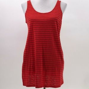 splendid boxy tank top red blue stripe sz S Small